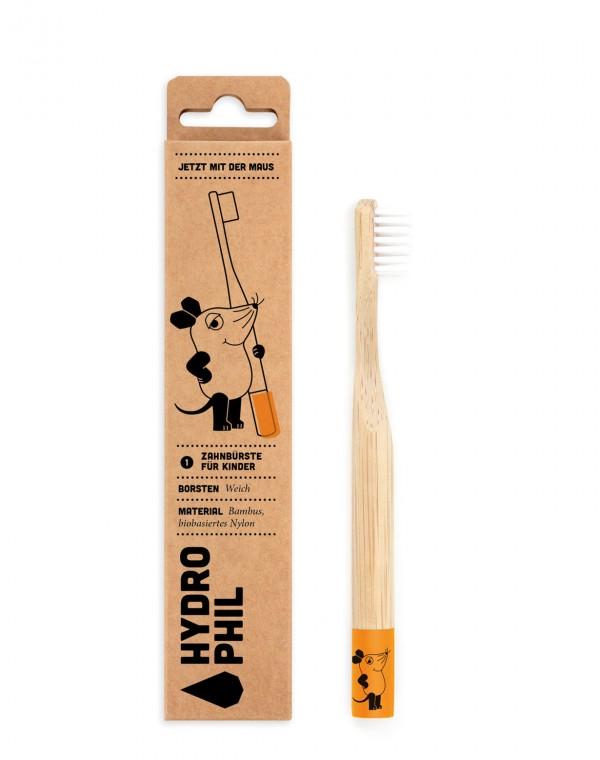 Bambus Kinder-Zahnbürste Maus